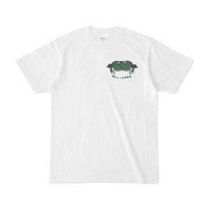 バジェットガエルワンポイント白Tシャツ