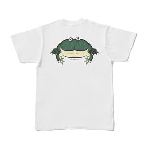 バジェットガエルバックプリントTシャツ