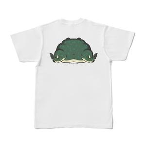 バジェ尻バックプリントTシャツ