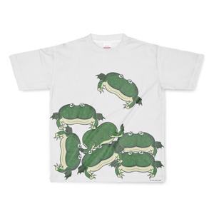 積みバジェットガエルがたくさんTシャツ
