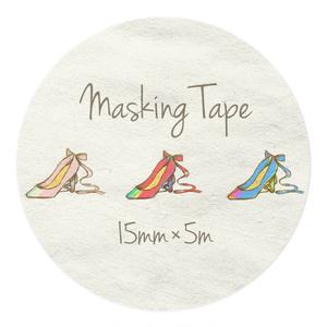 パンプス柄のマスキングテープ