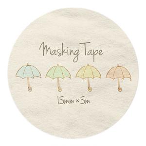 傘柄のマスキングテープ