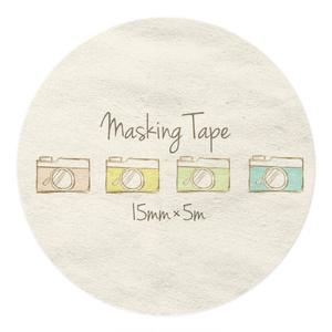 カメラ柄のマスキングテープ