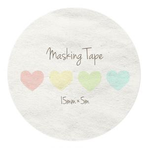 ハート柄のマスキングテープ