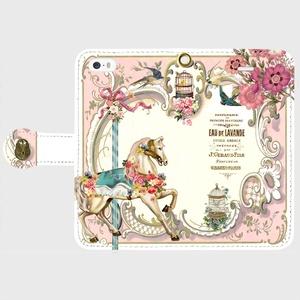 【iPhone/androidケース】ベリーメリーゴーランド(ピンク)手帳型【送料無料】