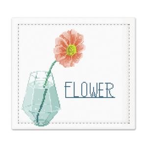 【ドット絵】花の捺印マット