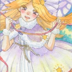 額装ATC原画「流れ星の妖精」