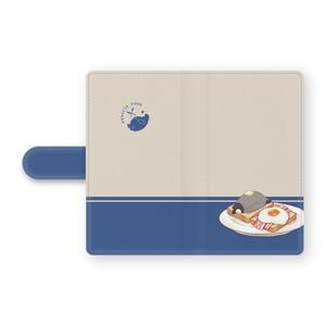 PENGUIN FOOD「朝ごはん」 Android 手帳型ケース