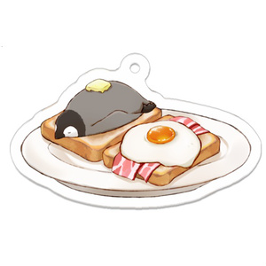 PENGUIN FOOD「朝ごはん」 アクリルキーホルダー