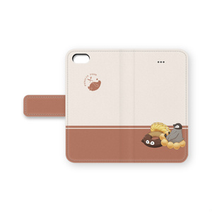 PENGUIN FOOD「ドーナツ」  iphone 手帳型ケース