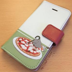 PENGUIN FOOD「ピッツァ/マルゲリータ」  iphone 手帳型ケース