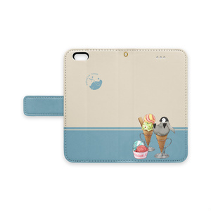 PENGUIN FOOD「アイスクリーム」 iphone 手帳型ケース