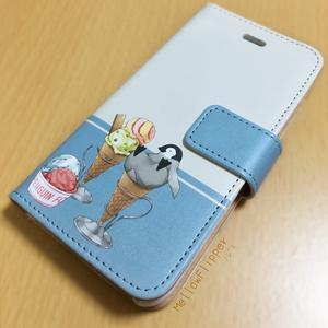 PENGUIN FOOD「アイスクリーム」 Android 手帳型ケース