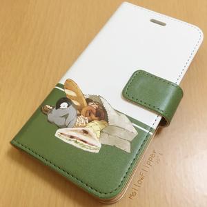 PENGUIN FOOD「ベーカリー」 iphone 手帳型ケース
