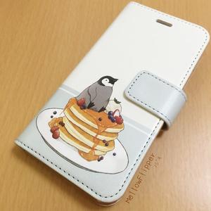 PENGUIN FOOD「パンケーキ」  iphone 手帳型ケース