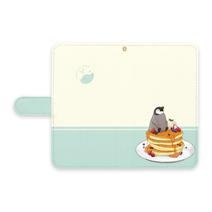 PENGUIN FOOD「パンケーキ」 Android 手帳型ケース