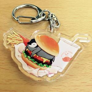PENGUIN FOOD「ハンバーガー」 アクリルキーホルダー