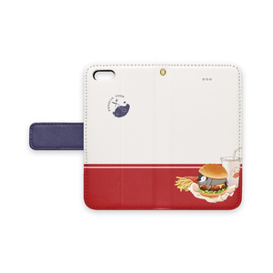 PENGUIN FOOD「ハンバーガー」  iphone 手帳型ケース