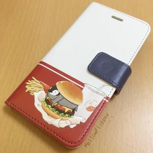 PENGUIN FOOD「ハンバーガー」 Android 手帳型ケース