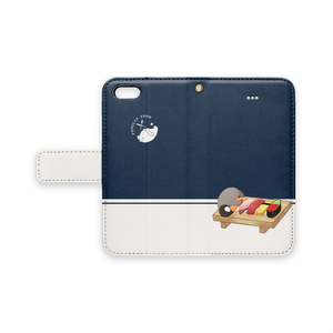 PENGUIN FOOD「寿司」 iphone 手帳型ケース