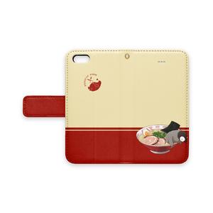 PENGUIN FOOD「ラーメン」 iphone 手帳型ケース
