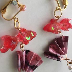 扇金魚のアクセサリー  赤