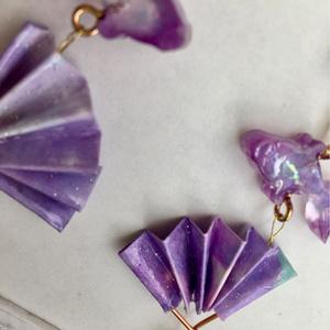 扇金魚のアクセサリー  紫