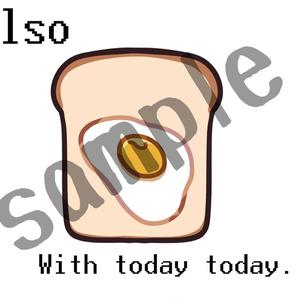 朝食は目玉焼きトースト スマホケース