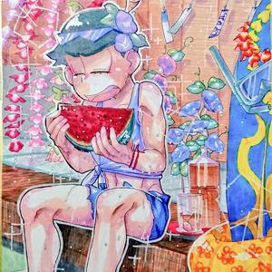 色紙(大)◆夏のカラ松