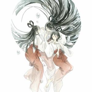 水彩原画「宗像三女神」