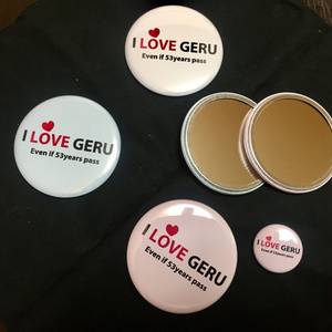 I LOVE GERU コンパクトミラー(57mm)