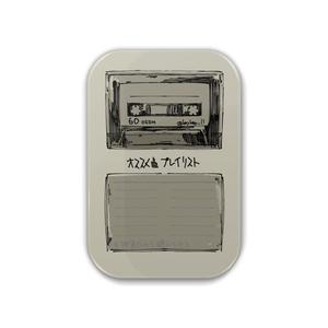 カセットテープ缶バッジ