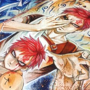 【我愛羅・カンクロウ・テマリ中心】星の砂-アナログイラスト集-