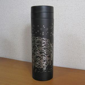 【受注生産】ステンレスサーモボトル(ギンガメアジのトルネード)