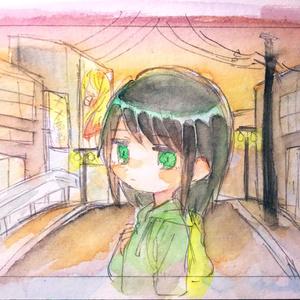 原画「夕焼け」
