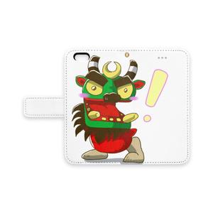 ビックリ!牛鬼 iPhone 手帳型 スマホケース (pn-1010)