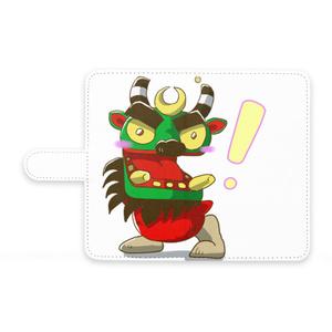 ビックリ!牛鬼 Android 全機種対応 手帳型 スマホケース(An-1010)