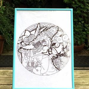 花月(刺繍画)