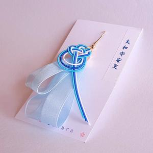 水引×リボンの片耳ピアス/イヤリング【大和守安定ver.】