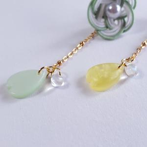 水引×桜の片耳ピアス/イヤリング【膝丸ver.】