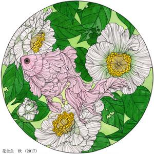 金魚絵作品集「金魚鉢」