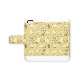 手帳型iPhoneケース【チーズ】