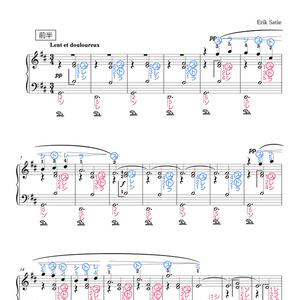 ジムノペディ(ドレミ楽譜・全指番号楽譜)