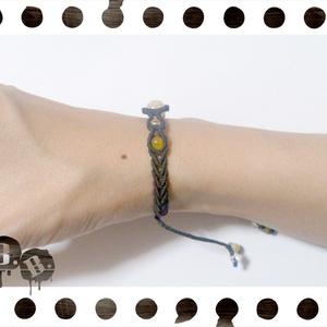 シンプルドロップブレスレット8mm【アラゴナイト】【ブラックコード】【ハンドメイドアクセサリー】