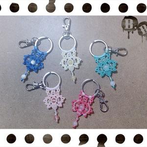 【夏向けライトカラー】玉蝶のキーホルダー【5色】【ハンドメイドアクセサリー】