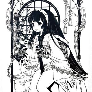 東北ずん子切り絵ポスター(A4) (蓮の庭)
