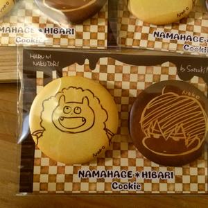 ナマハゲとヒバリのクッキー缶バッジ