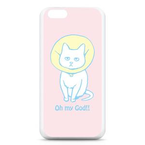 猫のiPhone6ケース(ライトピンク)