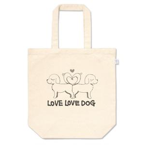 LOVE LOVE DOG トートバッグ