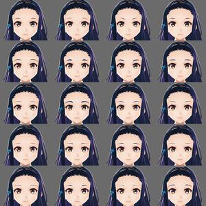 【VRoid】眉毛テクスチャ20種セット